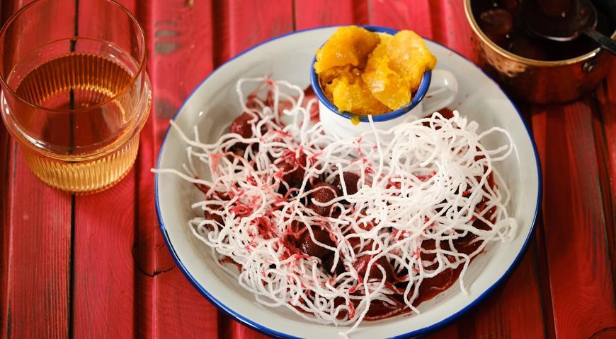 Десерт-сюрприз из фунчозы, пошаговый рецепт с фото