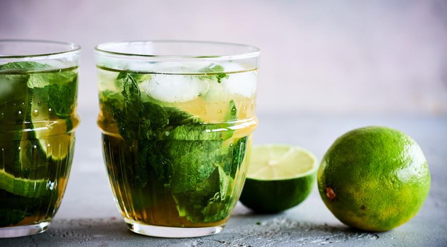 Мохито на зеленом чае, пошаговый рецепт с фото
