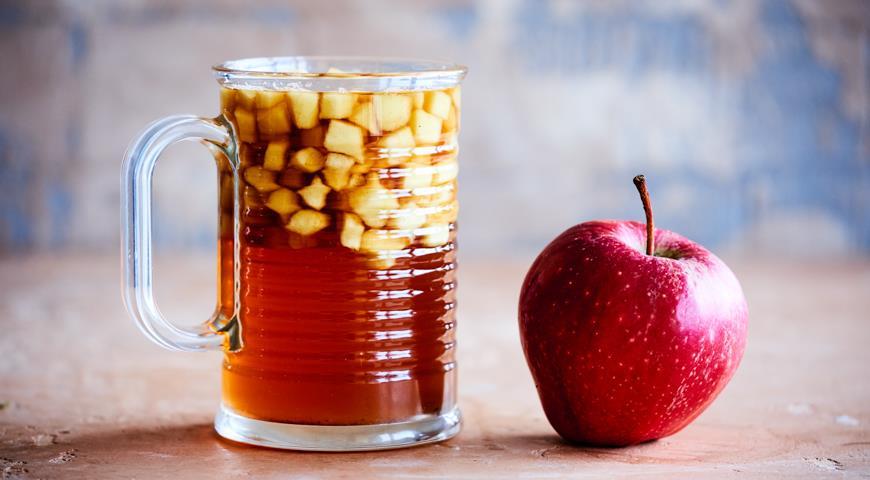 Яблочный чай для детского пикника, пошаговый рецепт с фото