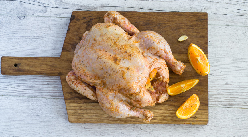 Курица, запеченная в рукаве, пошаговый рецепт с фото