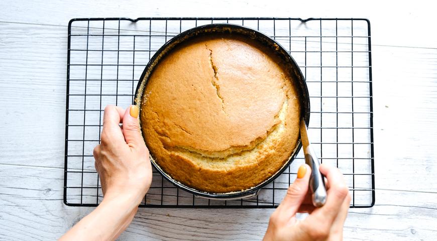 Заливной пирог с абрикосами, поставьте пирог в духовку
