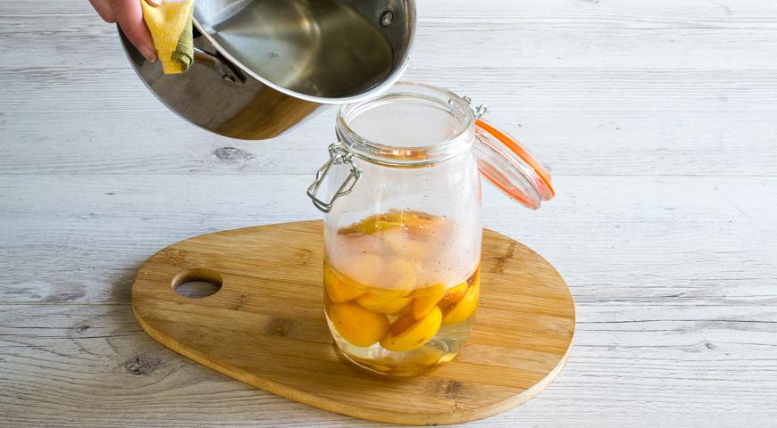 Компот из абрикосов на зиму, пошаговый рецепт с фото