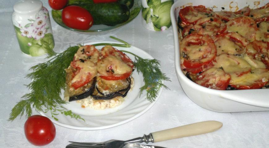 Запеканка из баклажанов и молодого картофеля, пошаговый рецепт с фото