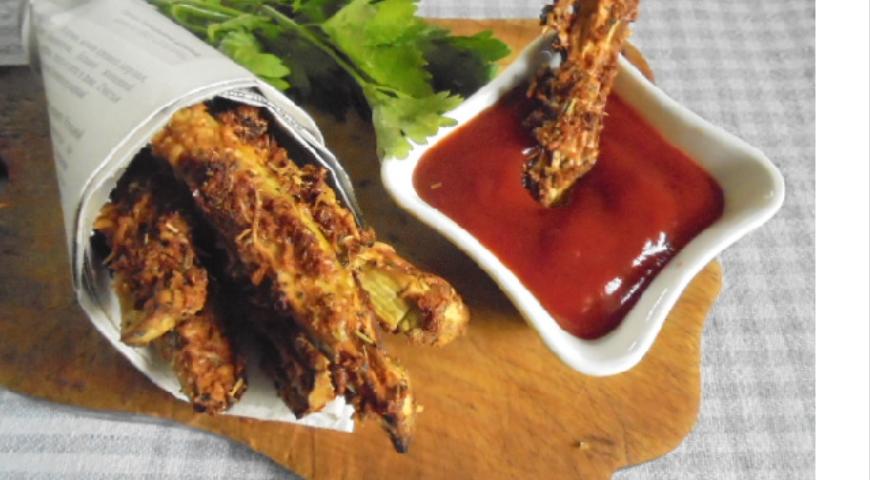 Снэк баклажановые палочки, пошаговый рецепт с фото