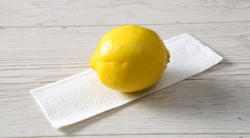 Домашний тархун, обсушите лимон