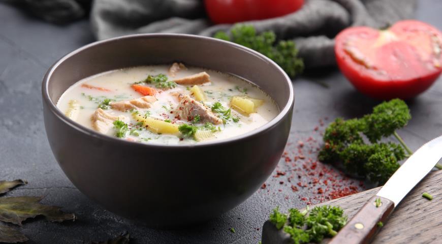 Сливочный суп с сёмгой, пошаговый рецепт с фото