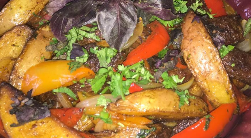 Оджахури из говядины, пошаговый рецепт с фото