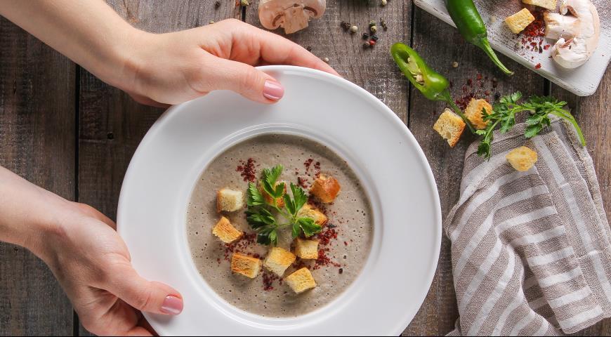 Грибной крем-суп, пошаговый рецепт с фото