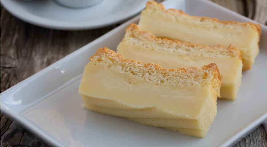 Магического торта с заварным кремом