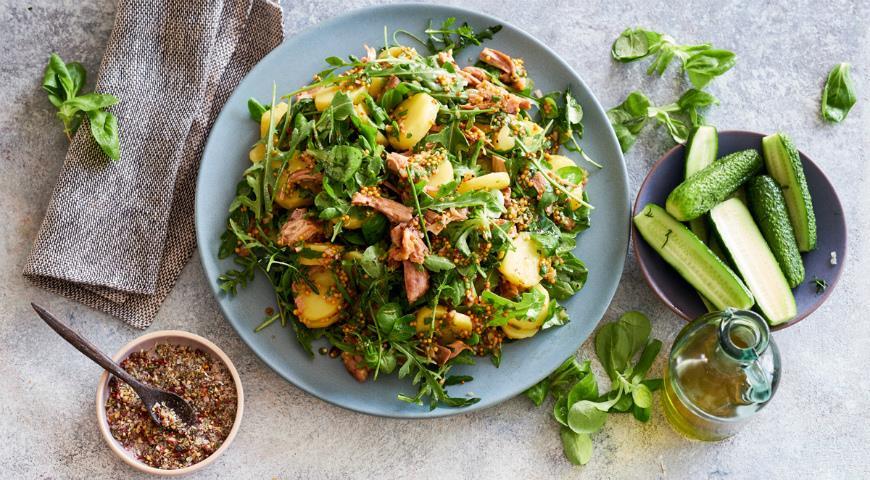 Картофельный салат с курицей-гриль