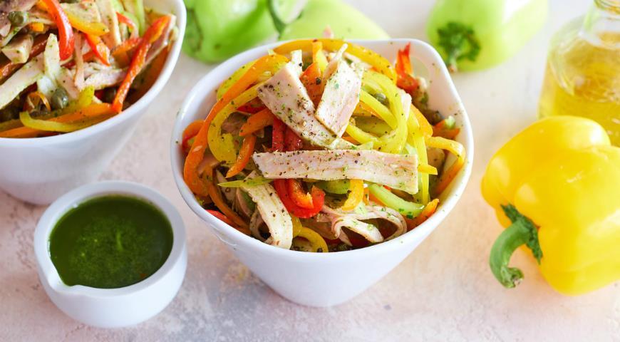 Салат из сладкого перца с бужениной, пошаговый рецепт с фото