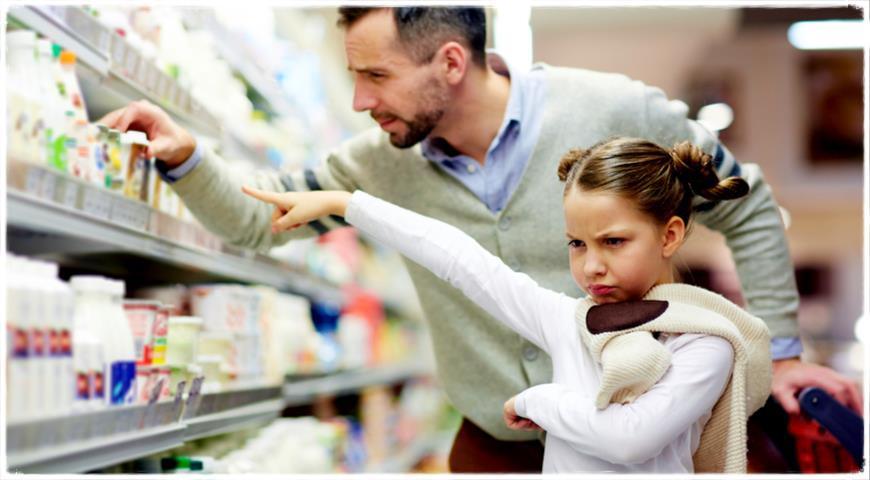 Выбор йогуртов в магазине