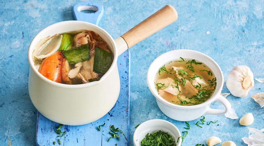 Лечебный куриный бульон, пошаговый рецепт с фото
