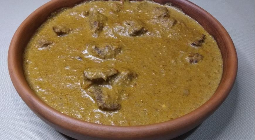 Яхни в орехово-шафранном соусе, пошаговый рецепт с фото