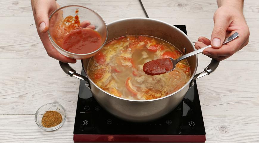 Cуп Харчо классический с рисом, пошаговый рецепт с фото