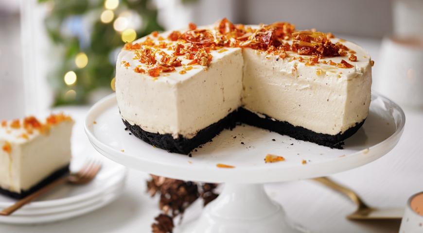 Рецепт Снежный чизкейк с белым шоколадом и сливочным ликером