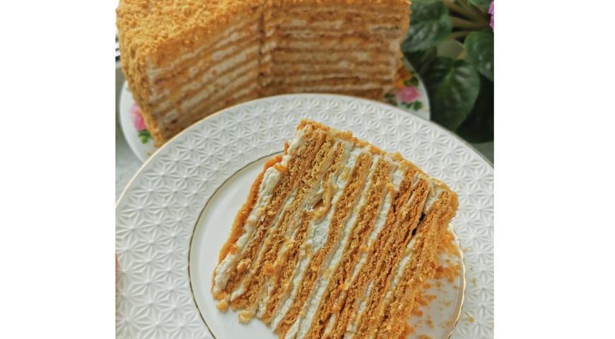 Мамин медовый торт, пошаговый рецепт с фото