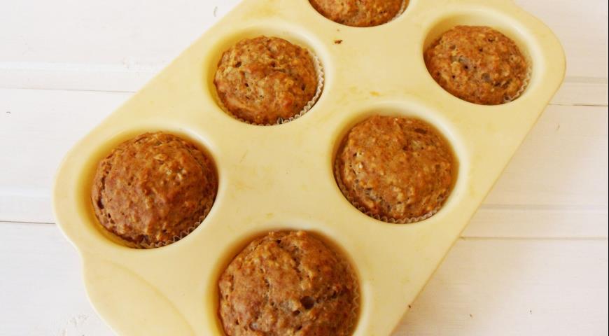 Банановые кексы с овсяными хлопьями, пошаговый рецепт с фото