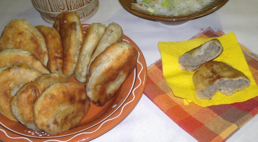 Пирожки с картошкой и печёнкой, пошаговый рецепт с фото