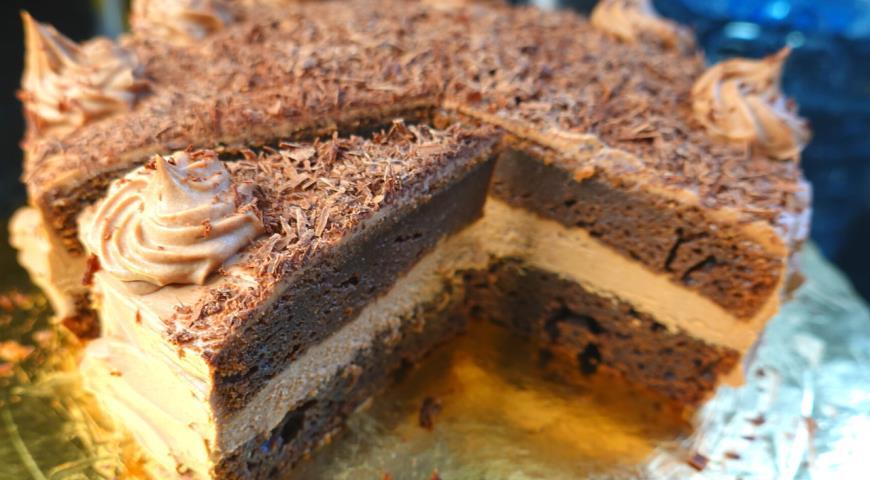 Шоколадный торт без возни на Новый год , пошаговый рецепт с фото