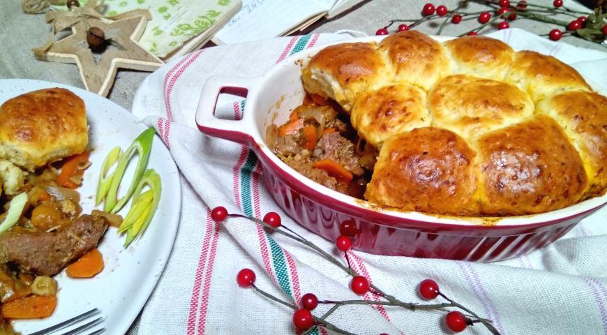 Рагу с румяными булочками, пошаговый рецепт с фото