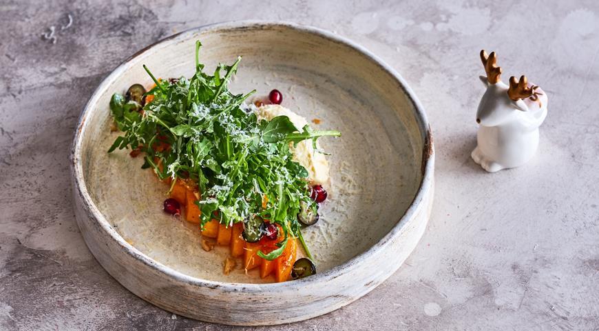 Закуска из тыквы с цитрусовым крем-фреш, пошаговый рецепт с фото