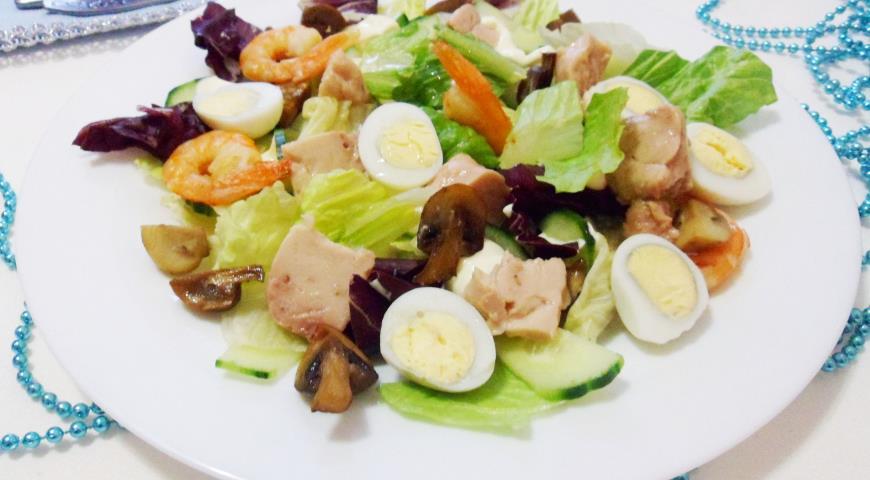 Салат с печенью трески, пошаговый рецепт с фото