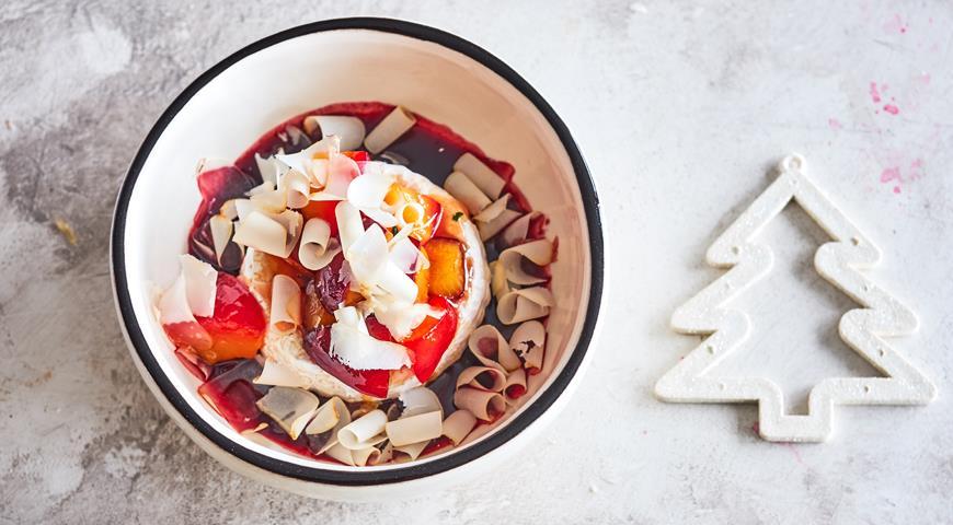 Запеченный камамбер с фруктами, пошаговый рецепт с фото