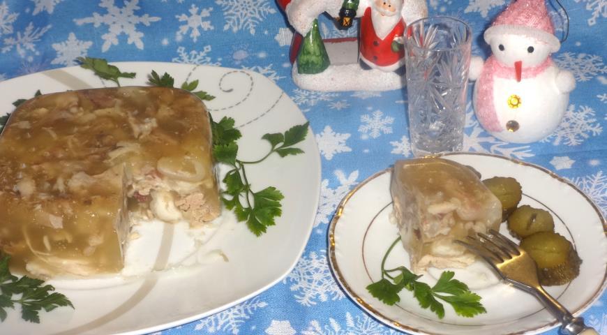 Холодец из свинины и курицы, пошаговый рецепт с фото