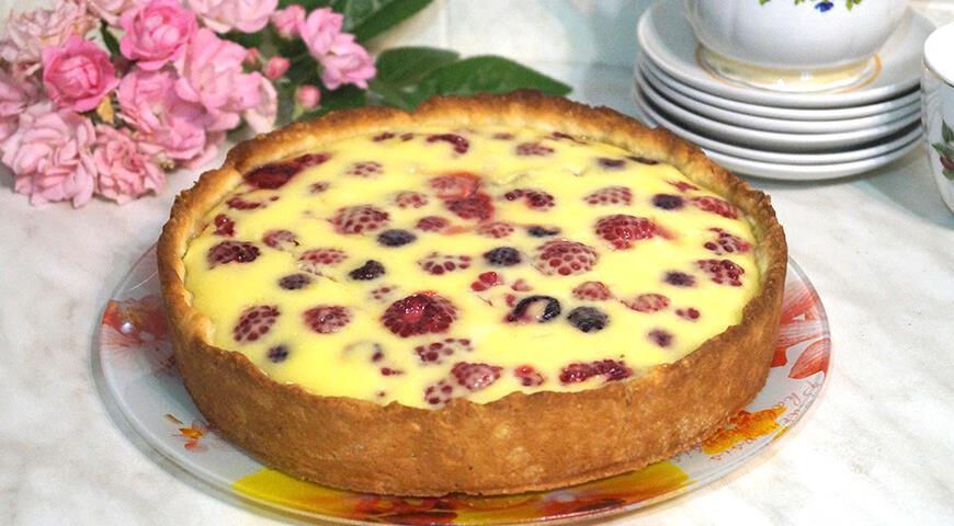 Пирог с малиной, пошаговый рецепт с фото