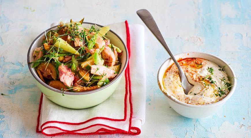 Салат из фейхоа с копченой курицей, пошаговый рецепт с фото
