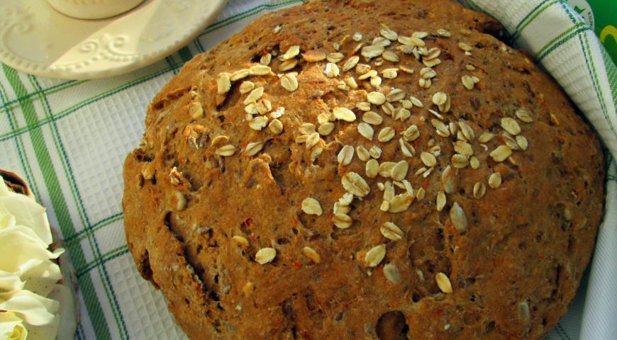 Зерновой хлеб из трех видов муки, пошаговый рецепт с фото