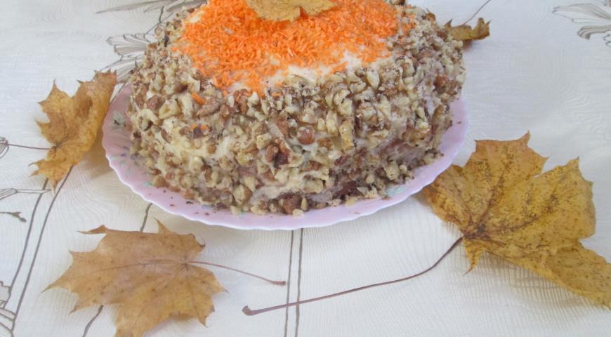 Тыквенный пирог со сметанным кремом, пошаговый рецепт с фото