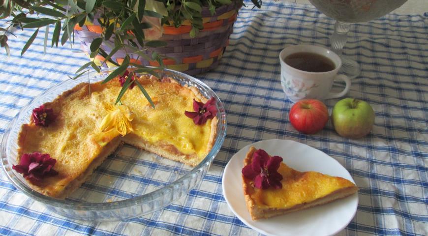 Яблочный пирог с заливкой по рецепту тёти Розы, пошаговый рецепт с фото