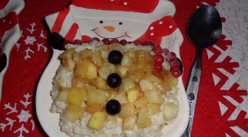 Овсяная каша с яблоком и корицей , пошаговый рецепт с фото