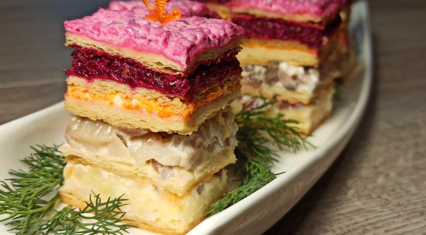 Закусочный пирог Шуба, пошаговый рецепт с фото
