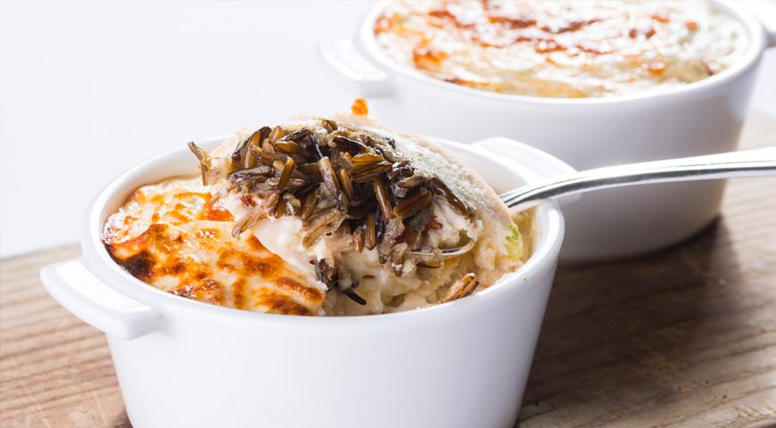 Сырно-куриная запеканка с диким рисом, пошаговый рецепт с фото