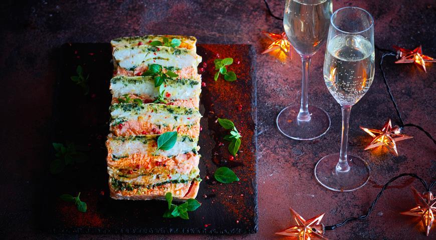 Террин из красной и белой рыбы с оливками, пошаговый рецепт с фото