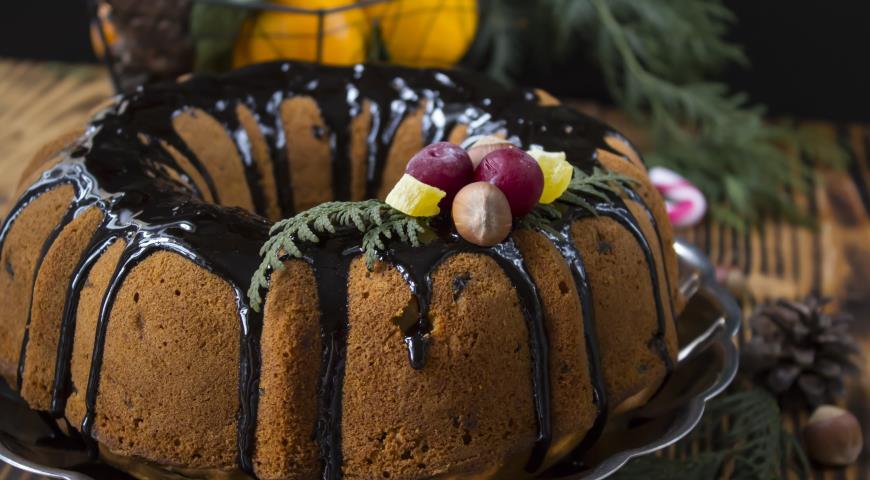 Рождественский кекс, пошаговый рецепт с фото