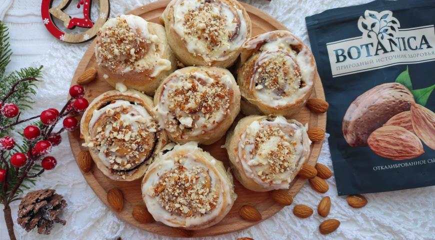 Синнабоны с миндалём, пошаговый рецепт с фото