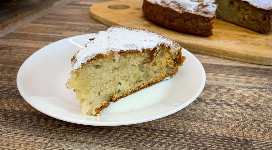 Сметанный пирог с яблоками, пошаговый рецепт с фото