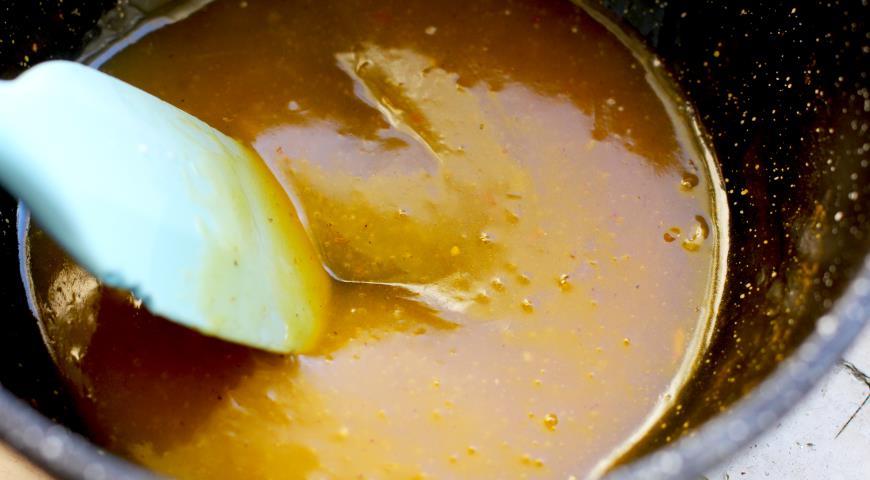 Рыбная коса под мандариновой глазурью, пошаговый рецепт с фото