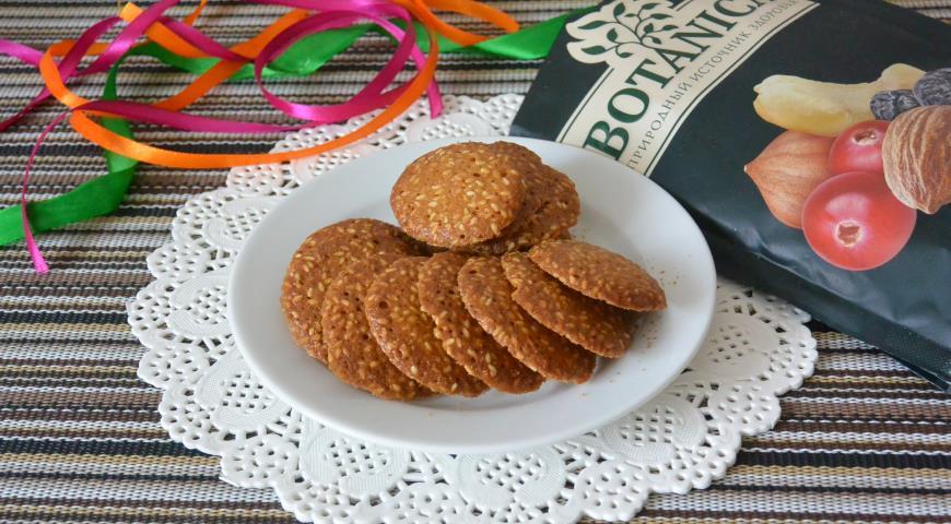 Ореховое печенье с кунжутом, пошаговый рецепт с фото