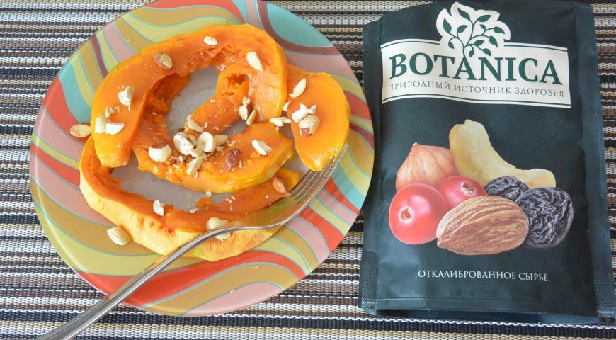 Запеченная тыква с медом и орехами, пошаговый рецепт с фото