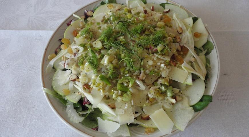 Зеленый витаминный салат, пошаговый рецепт с фото