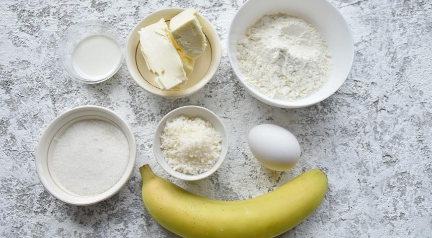 Кокосовый пирог с карамелью и бананом, пошаговый рецепт с фото