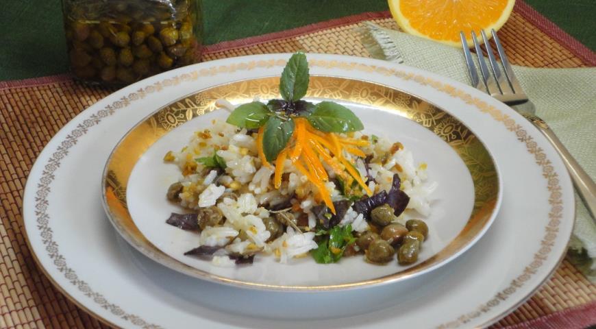 Рисовый салат с каперсами, пошаговый рецепт с фото