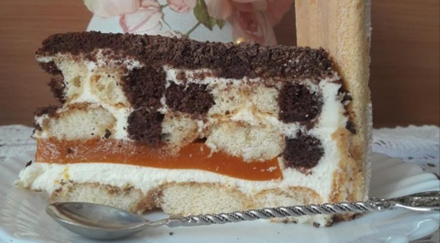 Торт с кремом из сливочного сыра и облепиховым желе, пошаговый рецепт с фото