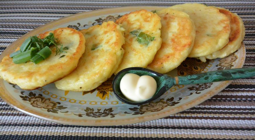 Картофельные оладьи , пошаговый рецепт с фото
