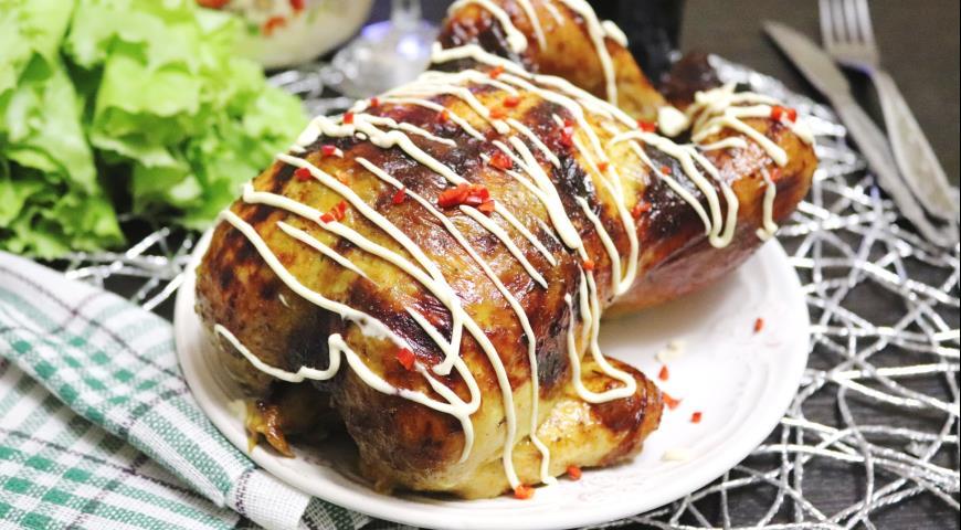 Запечённая курица в душистых специях, пошаговый рецепт с фото